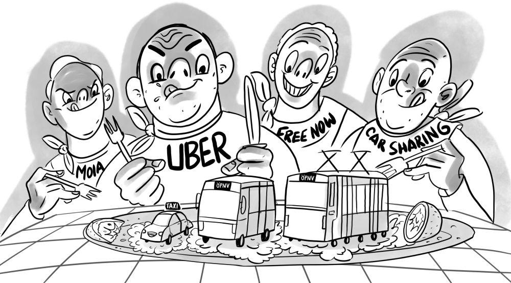 Grafik Appetit auf Taxi und ÖPNV