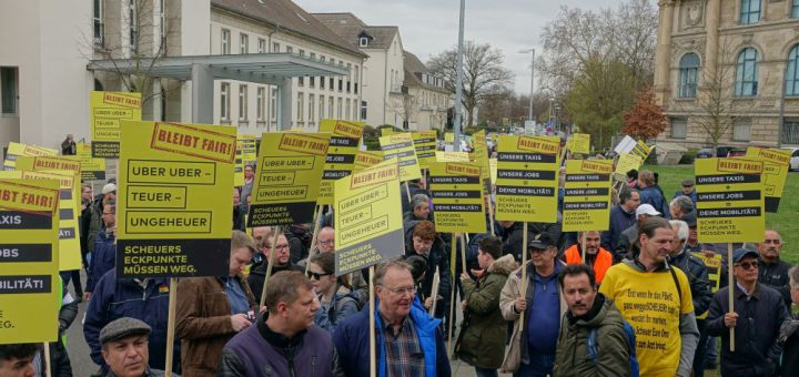 Taxifahrer Demo Hannover